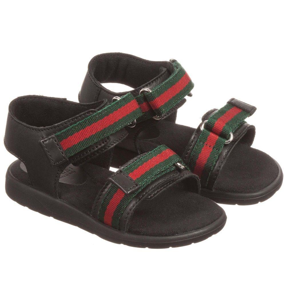 a26ea288a2b Producten - Gucci sandaal web 2 klit zwart - La Boite - Kids fashion   shoes