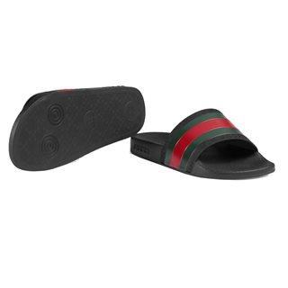 dcc148c26cd Producten - Gucci sandaal web 2 klit zwart - La Boite - Kids fashion ...